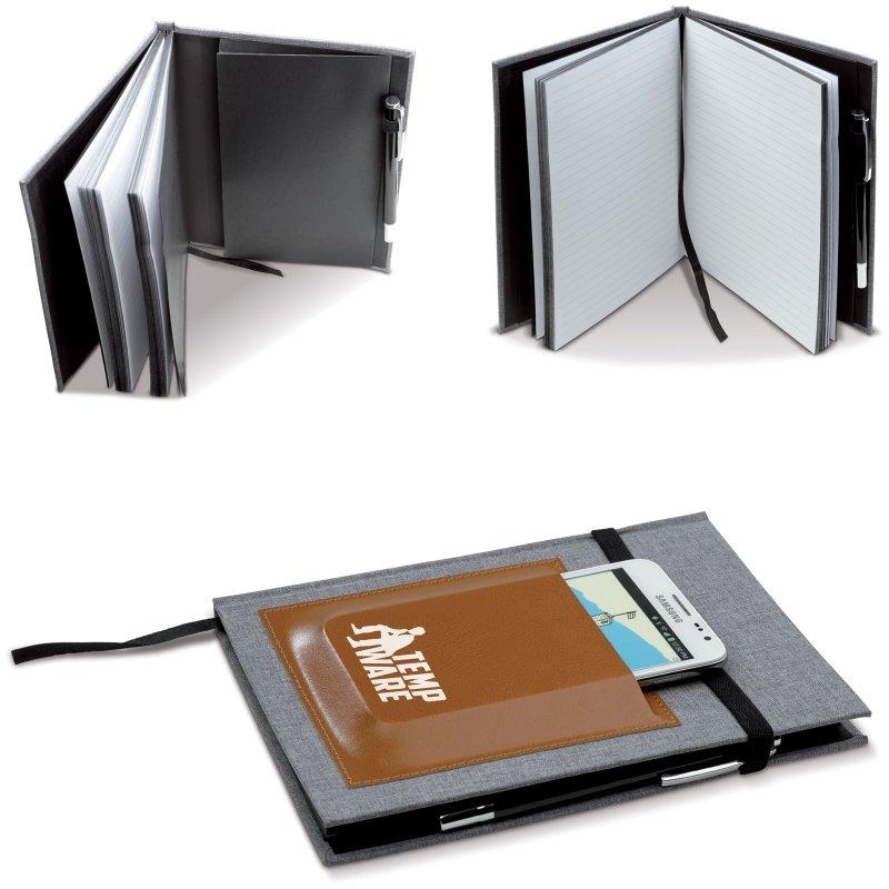 Notebook cu buzunar telefon