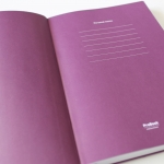notebook with flexible covers - marketing multisenzorial