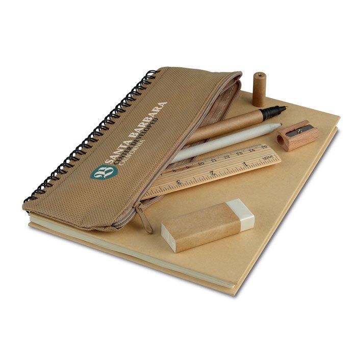 Set carnet spire cu penar + accesorii birou